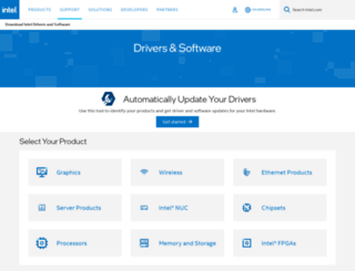 downloadcenter.intel.com screenshot