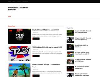 downloadcricketgame.blogspot.in screenshot