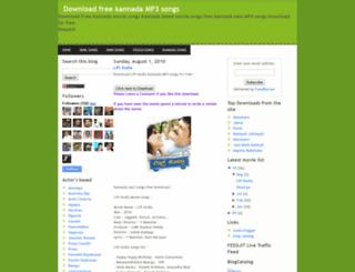 downloadfreekannadamp3.blogspot.in screenshot