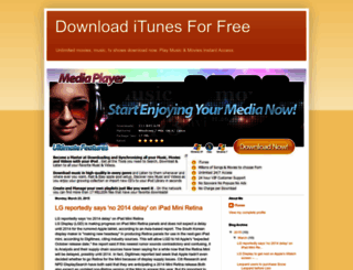 downloaditunesforfree.blogspot.com screenshot