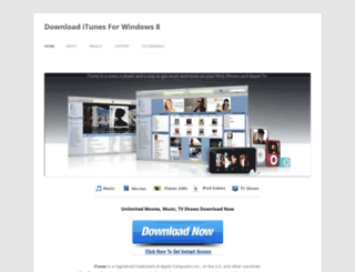 downloaditunesforwindows82.wordpress.com screenshot