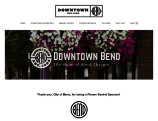 downtownbend.org screenshot
