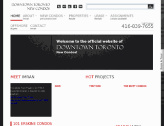 downtowntorontonewcondos.com screenshot
