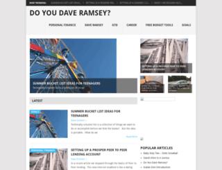 doyoudaveramsey.com screenshot