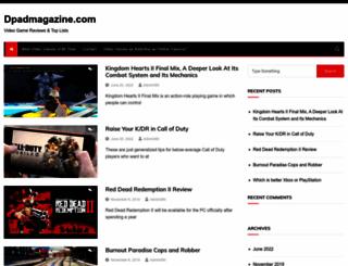 dpadmagazine.com screenshot