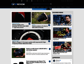 dpreview.com screenshot