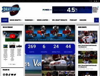 draftcountdown.com screenshot
