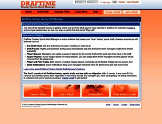 draftime.com screenshot
