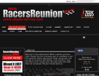drag.racersreunion.com screenshot