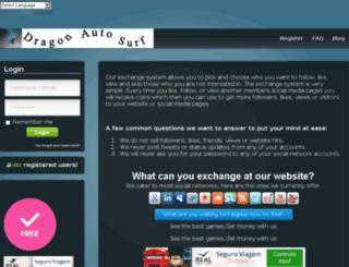 dragon-autosurf.com screenshot