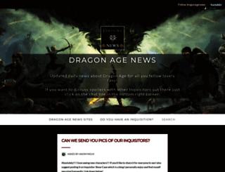 dragonagenews.tumblr.com screenshot
