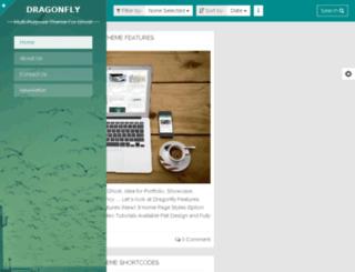 dragonfly-sidebar2.sunflowertheme.com screenshot