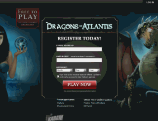 dragonsofatlantis.com screenshot