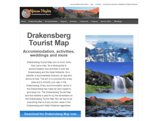 drakensberg-tourist-map.com screenshot