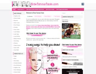 drawfamousfaces.com screenshot
