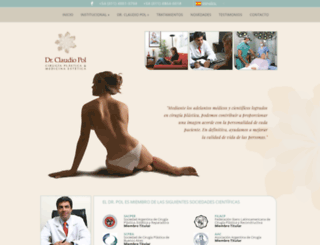 drclaudiopol.com.ar screenshot