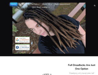 dreadlockssydney.com screenshot
