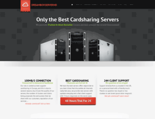 dreamboxserverhd.com screenshot