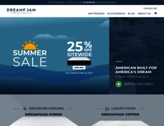 dreamfoambedding.com screenshot