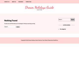 dreamholidaysguide.com screenshot