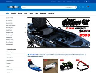 dreamkayaks.com.au screenshot