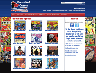 dreamlandcomics.com screenshot