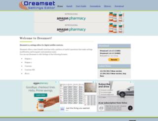 dreamset-editor.com screenshot
