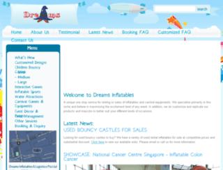 dreamsinflatables.com.sg screenshot