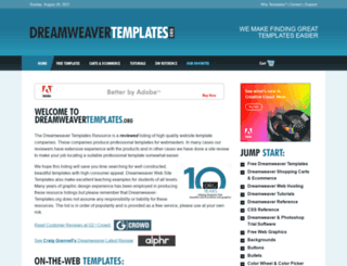 dreamweaver-templates.org screenshot