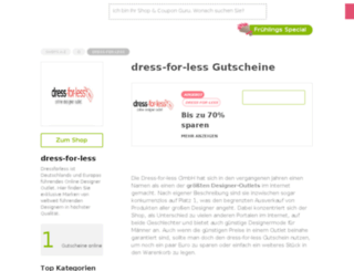 dress-for-less.gutscheincodes.de screenshot