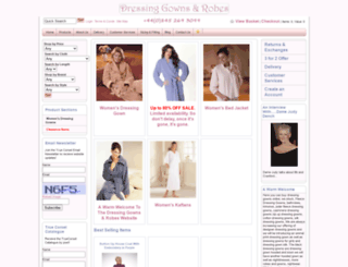 dressinggownsandrobes.com screenshot
