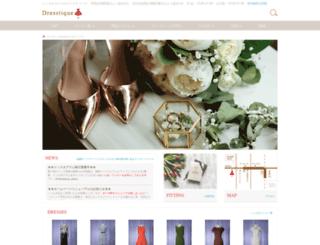 dresstique.jp screenshot