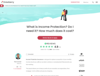drewberryincomeprotection.co.uk screenshot