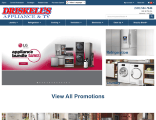driskellsappliances.com screenshot