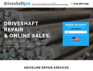 driveshaftpro.com screenshot