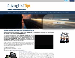 drivingtesttips.ie screenshot