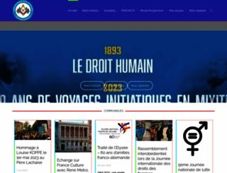droithumain-france.org screenshot