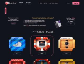 dropize.com screenshot