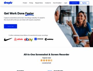 droplr.com screenshot