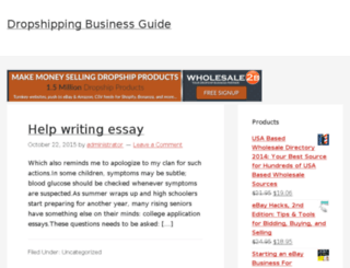 dropshippingbusinessguide.com screenshot