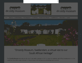 drostdymuseum.co.za screenshot