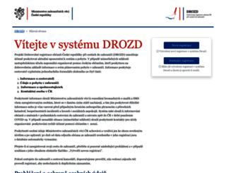 drozd.mzv.cz screenshot