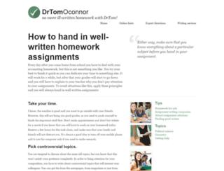 drtomoconnor.com screenshot