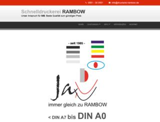 druckerei-rambow.de screenshot