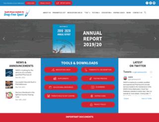 drugfreesport.org.za screenshot