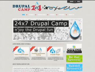 drupalcamp24x7.org screenshot