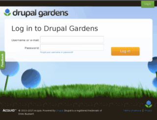 Drupalgardens.com Screenshot