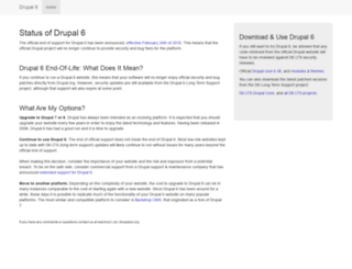 drupalsix.org screenshot