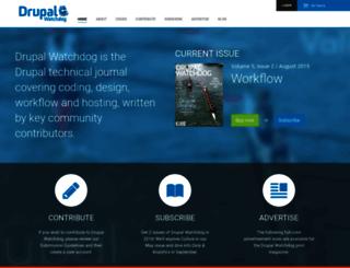 drupalwatchdog.com screenshot