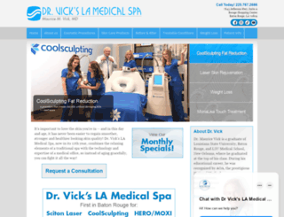 drvickslamedicalspa.com screenshot